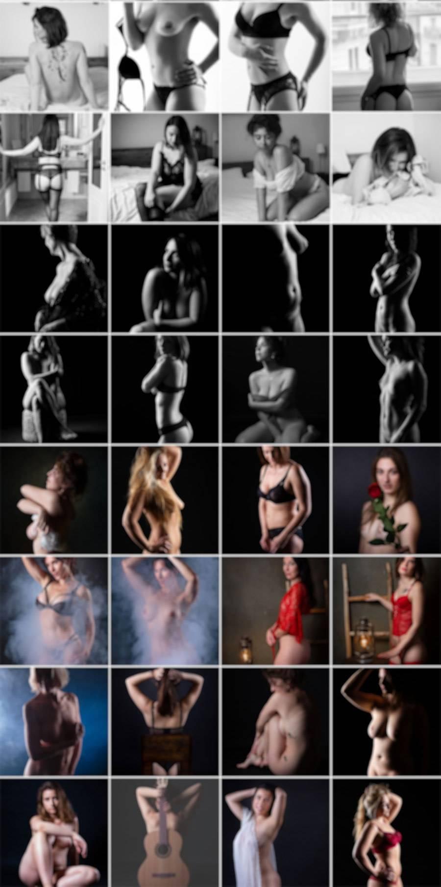 Exemples de photos de nu artistique et boudoir 2